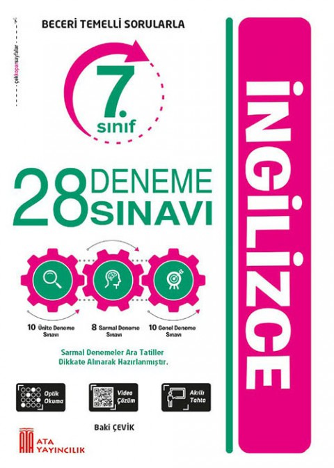 Ata Yayıncılık 7. Sınıf İngilizce 28 Deneme Sınavı