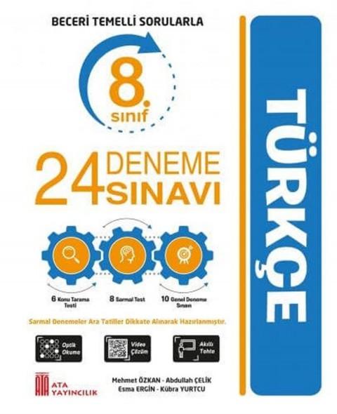 Ata Yayıncılık 8. Sınıf Türkçe 24 Deneme Sınavı