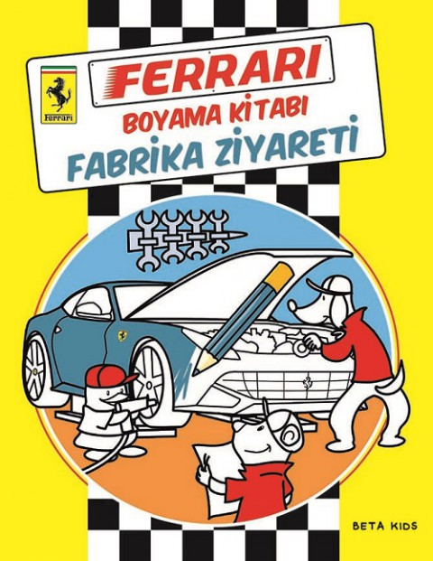 Beta Kids Ferrari Boyama Kitabı Fabrika Ziyareti