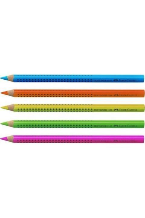 Faber Castell 5 Renk Ahşap Fosforlu İşaretleme Kalemi