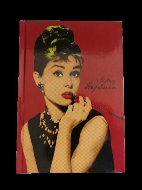 Floria Audrey Hepburn 13,5x19,5 cm 96 Yaprak Çizgili Defter