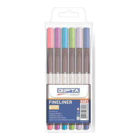 Gıpta 6 Renk Fineliner Kalem Seti