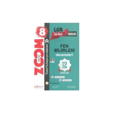 Günay Yayınları 8. Sınıf LGS Zoom Fen Bilimleri 12 li Deneme Sınavı