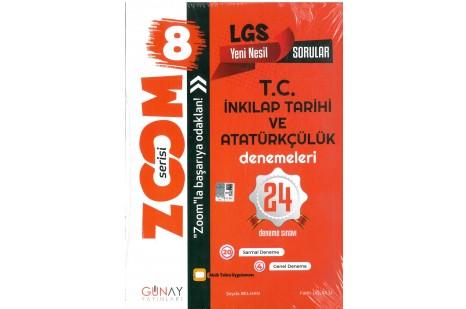 Günay Yayınları 8. Sınıf LGS Zoom T.C. İnkılap Tarihi ve Atatürkçülük 24 lü Deneme Sınavı