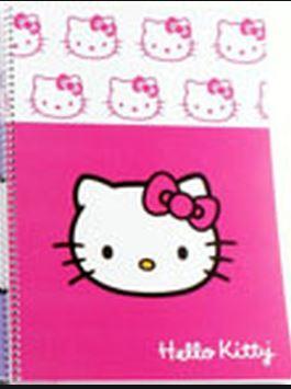 Hello Kitty Spiralli A4 120 Yaprak Çizgili Defter