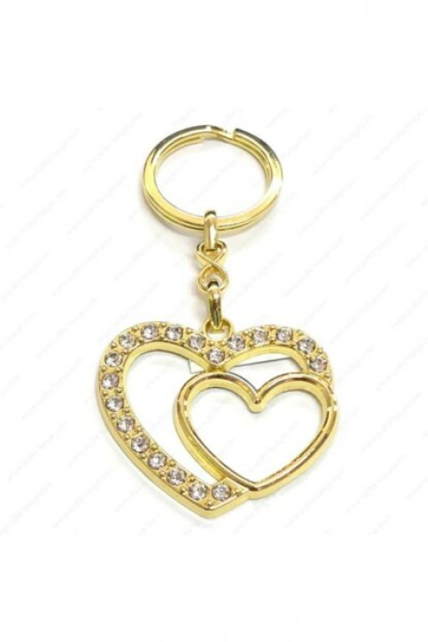 Keskin Color Anahtarlık Taş Süslemeli Kalp