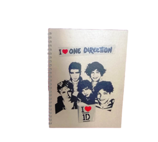 Keskin Color One Direction 16,5x22,5 Funky Sert Kapak Çizgili Defter