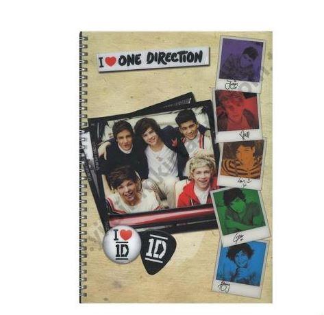 Keskin Color One Direction A4 Pp Kapak 80 Yaprak Kareli Defter