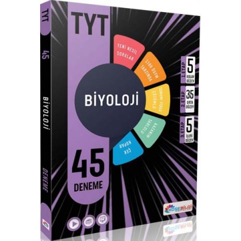 Köşebilgi TYT Biyoloji 45 Branş Deneme Video Çözümlü