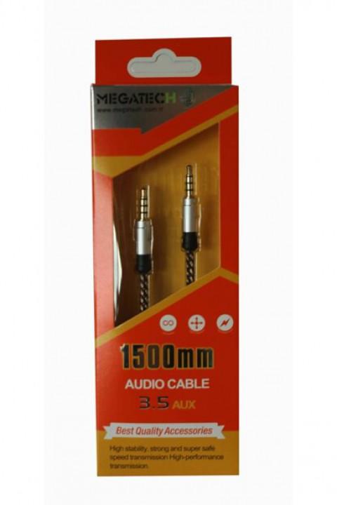 Megatech 1500 mm 3.5 Aux Stereo Ses Kablosu