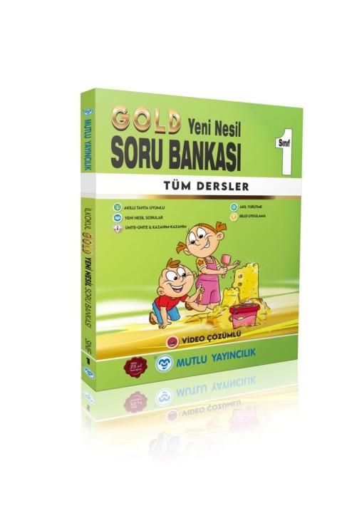 Mutlu Yayıncılık 1. Sınıf Yeni Nesil Gold Tüm Dersler Soru Bankası