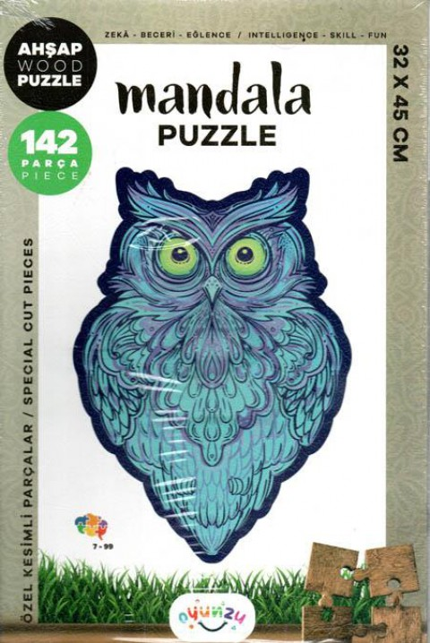 Oyunzu Baykuş Ahşap Mandala Puzzle 142 Parça