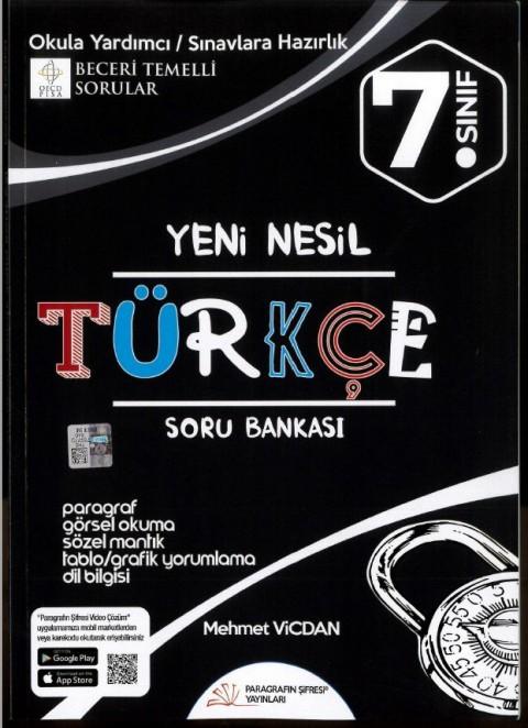 Paragrafın Şifresi 7. Sınıf Yeni Nesil Türkçe Soru Bankası