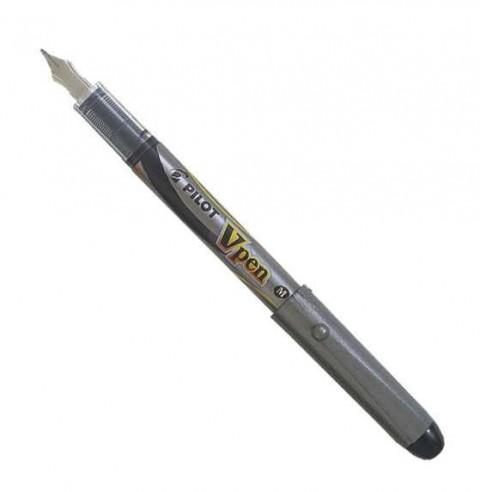 Pilot V Pen Silver Dolma Kalem Siyah