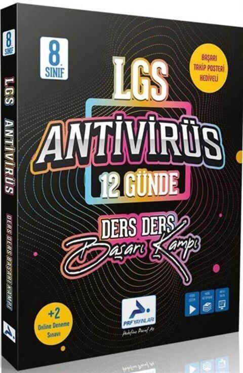 Prf Yayınları 8.Sınıf LGS Antivirüs 12 Günde Ders Ders Başarı Kampı