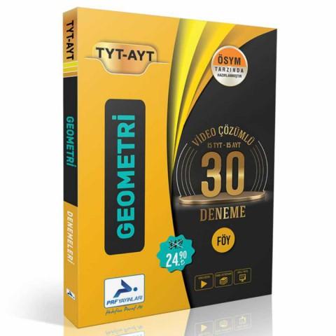 Prf Yayınları TYT AYT Geometri Video Çözümlü 30 Deneme