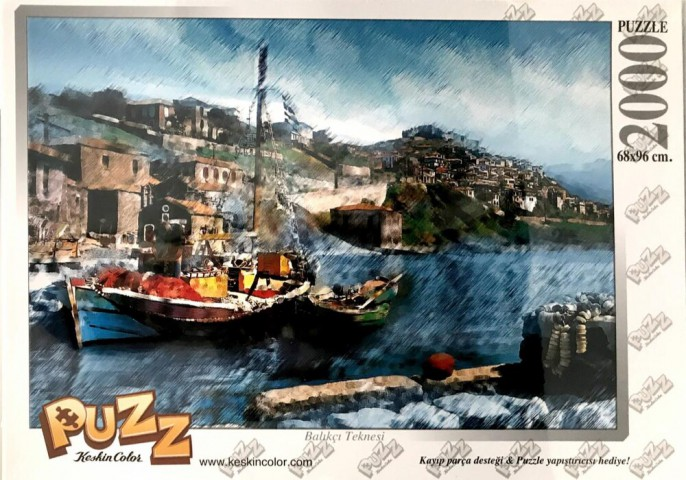 Puzz Balıkçı Teknesi 2000 Parça Puzzle