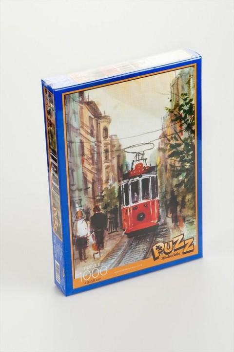 Puzz İstiklal Caddesi Tramvay 1000 Parça Puzzle
