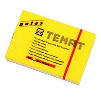 Temat 50x75 mm Sarı 80 Yaprak Yapışkanlı Not Kağıdı