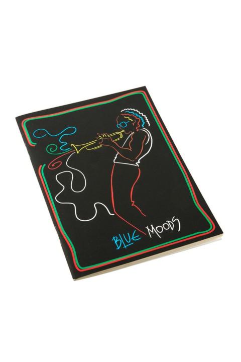 Tosbaa Müzisyen Serisi Blue Moods 15x21 cm Çizgisiz Defter