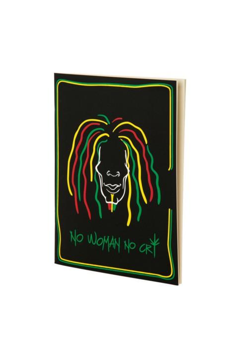 Tosbaa Müzisyen Serisi No Woman No Cry 15x21 cm Çizgisiz Defter